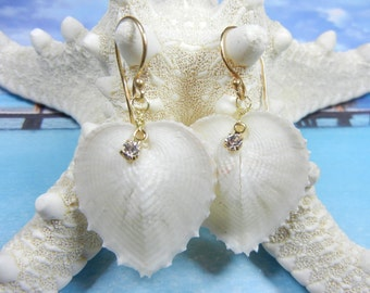 Seahearts - Seashell Earrings