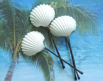 Seashell Bobby Pins - Wedding Ivory Arks