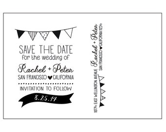 Flags Postcard Save the Date Set