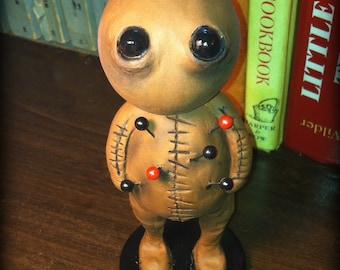 Custome Halloween horror clay voodoo doll pink or brown