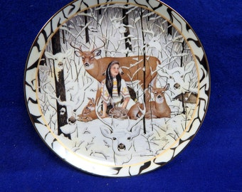 "Bradford Limited Edition  # 1654A ""Hearts Together Series"" Where Paths Meet"" Collector Plate Artist Diana Casey No. 1654"