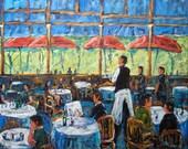 Impressionist Cafe Large original by Prankearts