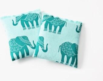 Lavender Scented Drawer Sachets, Regal Elephants in Blue, Tropical Bedroom Decor