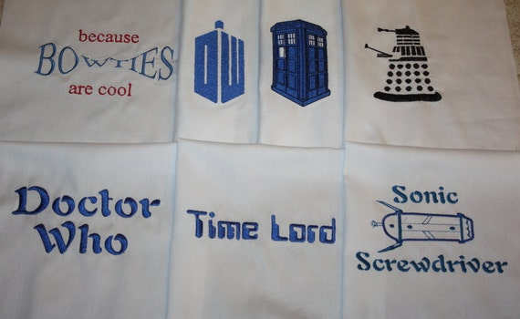 Doctor. Who Machine Embroidered Quilt Blocks Set A