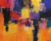 June 2014 - 1 - Original Abstract Oil Painting - 60.6 cm x 45.5 cm (app. 24 inch x 18 inch)