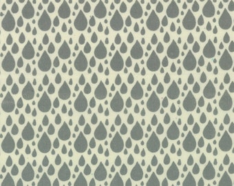 SALE Little Things Organic collection from Moda raindrops on cream half yard