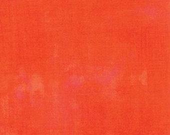 Tangerine Grunge by Basic Grey Moda one yard