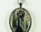 SALE Goth Vampire Fairy pendant necklace