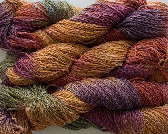 Sparrow,  Hand-dyed Cotton & Rayon Boucle Yarn, 225 yds - Old Brass