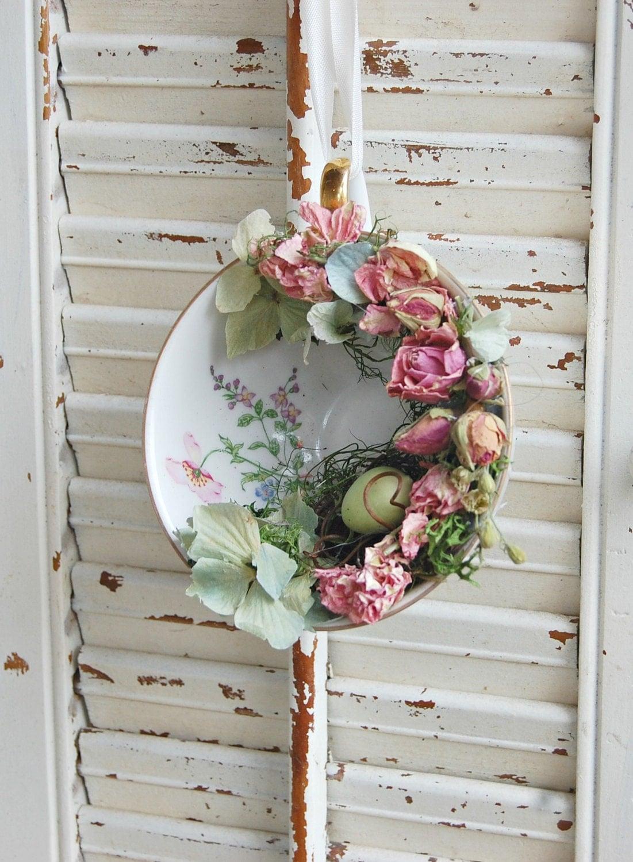 vintage tea cup with spring dried flower arrangement spring. Black Bedroom Furniture Sets. Home Design Ideas