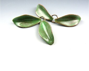 Enameled Petals / Willow Enamel / Made to order