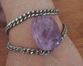 Amethyst Iris Bracelet