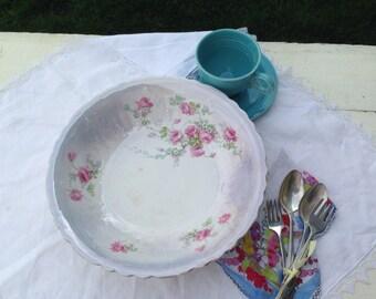Vintage Floral Serving Dish Bowl