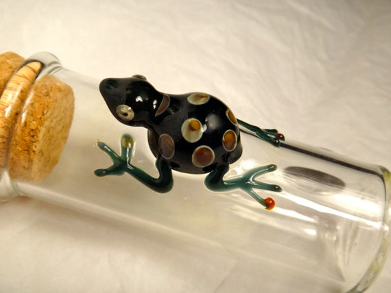 Frog on My Jar...  Pyrex Glass Critter Hand Blown Great for Pipe Tobacco or any other needs...  Seemyglass.com