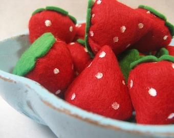 Felt Food Strawberries