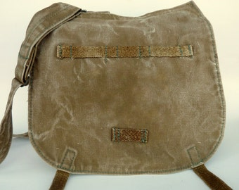 Vintage Canvas Czech Army Messenger Bag