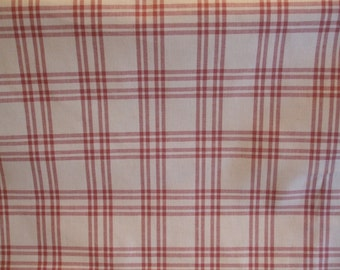 100% Cotton Rose and Cream Country Plaid Home Decor Fabric
