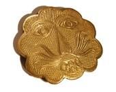RESERVED Lion Face Vintage Belt Buckle