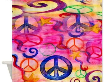 Peace Art Shower Curtain