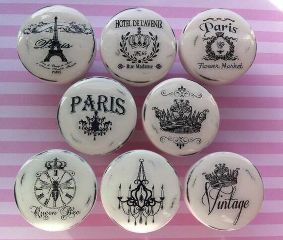 New Vintage Drawer Knobs Pulls Paris France By