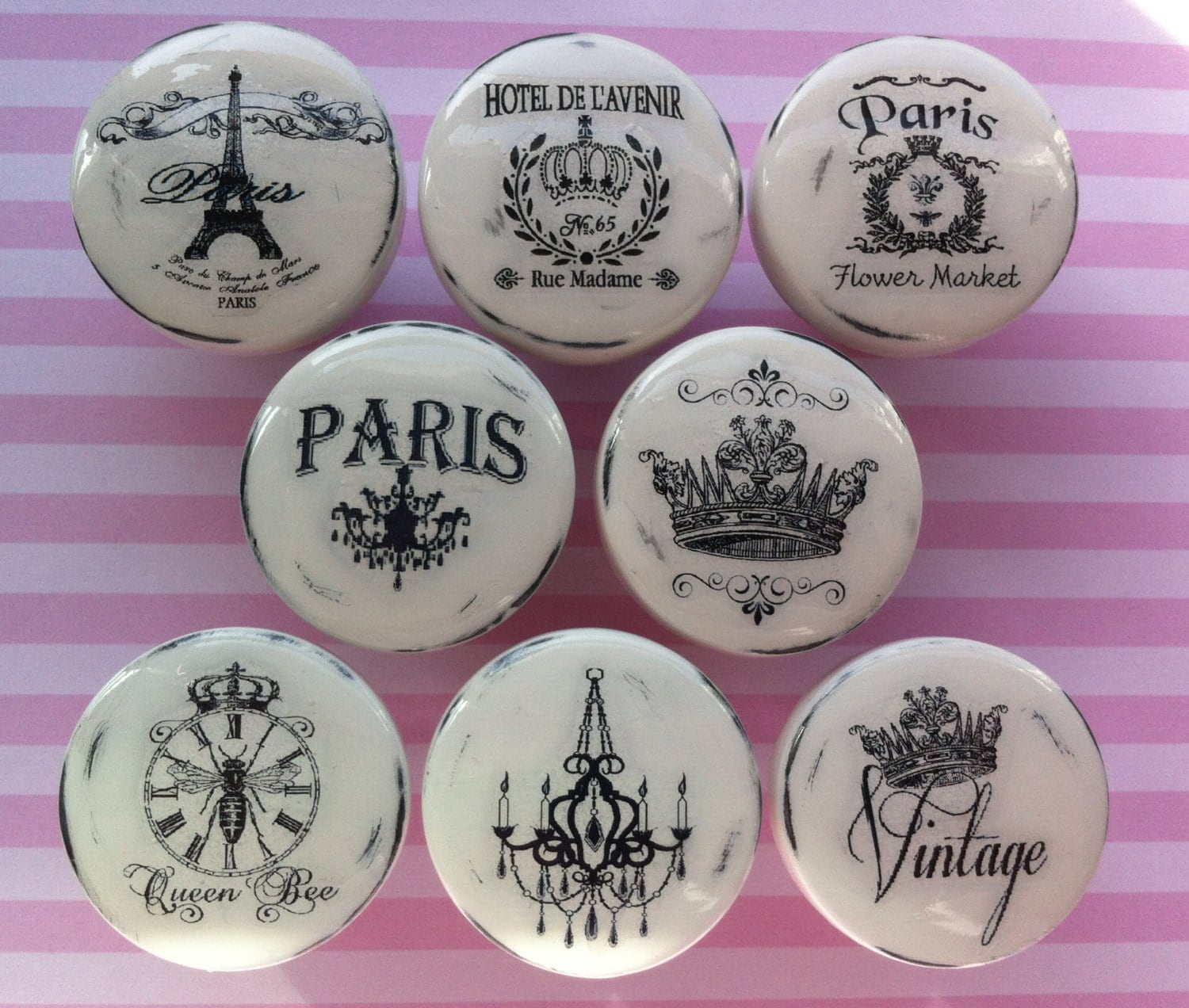 New Vintage Drawer Knobs Pulls Paris France Shabby Chic