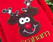Boys Reindeer Shirts, Boys Christmas Shirts, Rudolph shirts, Toddler Boys Christmas Shirt, Reindeer Shirts for Kids,Holiday Shirts