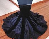 Drop Dead Gorgeous Designer Silk Velvet & Taffeta Strapless Cocktail Party Dress Rhinestone Trim