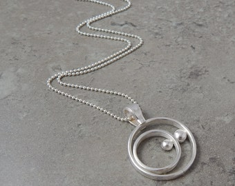 Orbital Sterling Silver Circle Necklace