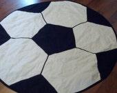 Custom order Soccer Ball blanket -----C E ------Custom Soccer Ball blanket
