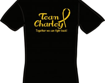 Lot Of 10 Team Personalized Childhood Cancer Awareness Shirts