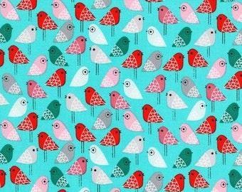 Robert Kaufman Fabric Kokeshi Birds color Sweet