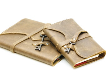 Leather Moleskine Cover, Leather Journal, Leather Gifts for Men, Fieldnotes Journal - IN STOCK
