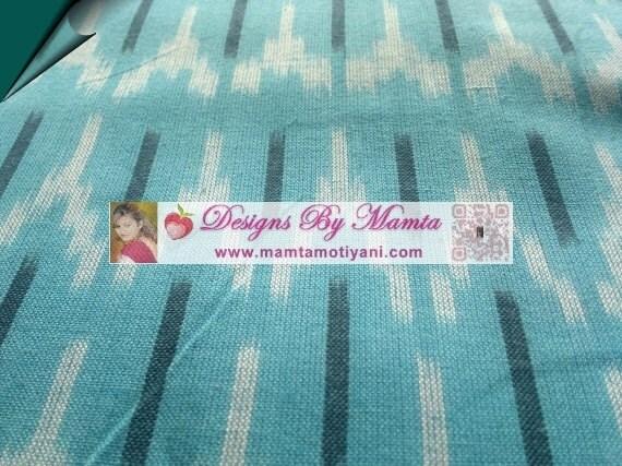Turquoise Ikat Fabric