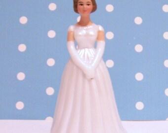 Small Bride Cake Topper
