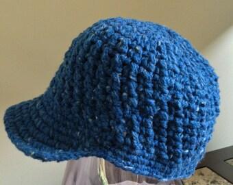 Blue Newsboy Cap