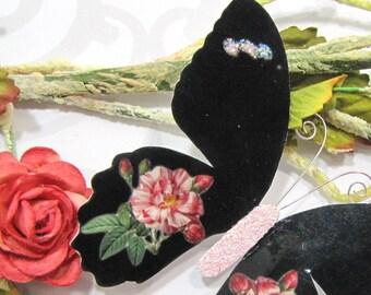 Butterfly Embellishments Desert Rose
