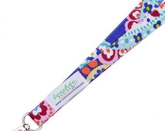 ID Badge Holder Key Holder Fabric Badge Holder Keychain Teacher Gift Breakaway Lanyard Break Away Lanyard Fabric Lanyard Teacher Lanyard