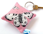 Printed Butterfly Keyring Keychain