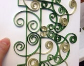 Paper quilling art, 8x10 picture, paper quilled letter, paper quilled monogram, quilled paper art work, wedding gift, baby gift
