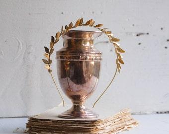 Gold Leaf Headband Bridal Headpiece Woodland Wedding Grecian Romantic Bridal Gold Tiara Garden Forest Bride Hair Gold Leaf Wreath