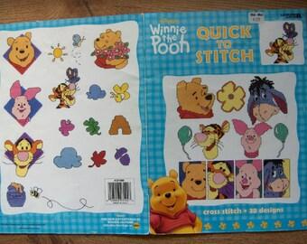 cross stitch patterns 2000 Winnie The Pooh Tigger Eeyore Piglet
