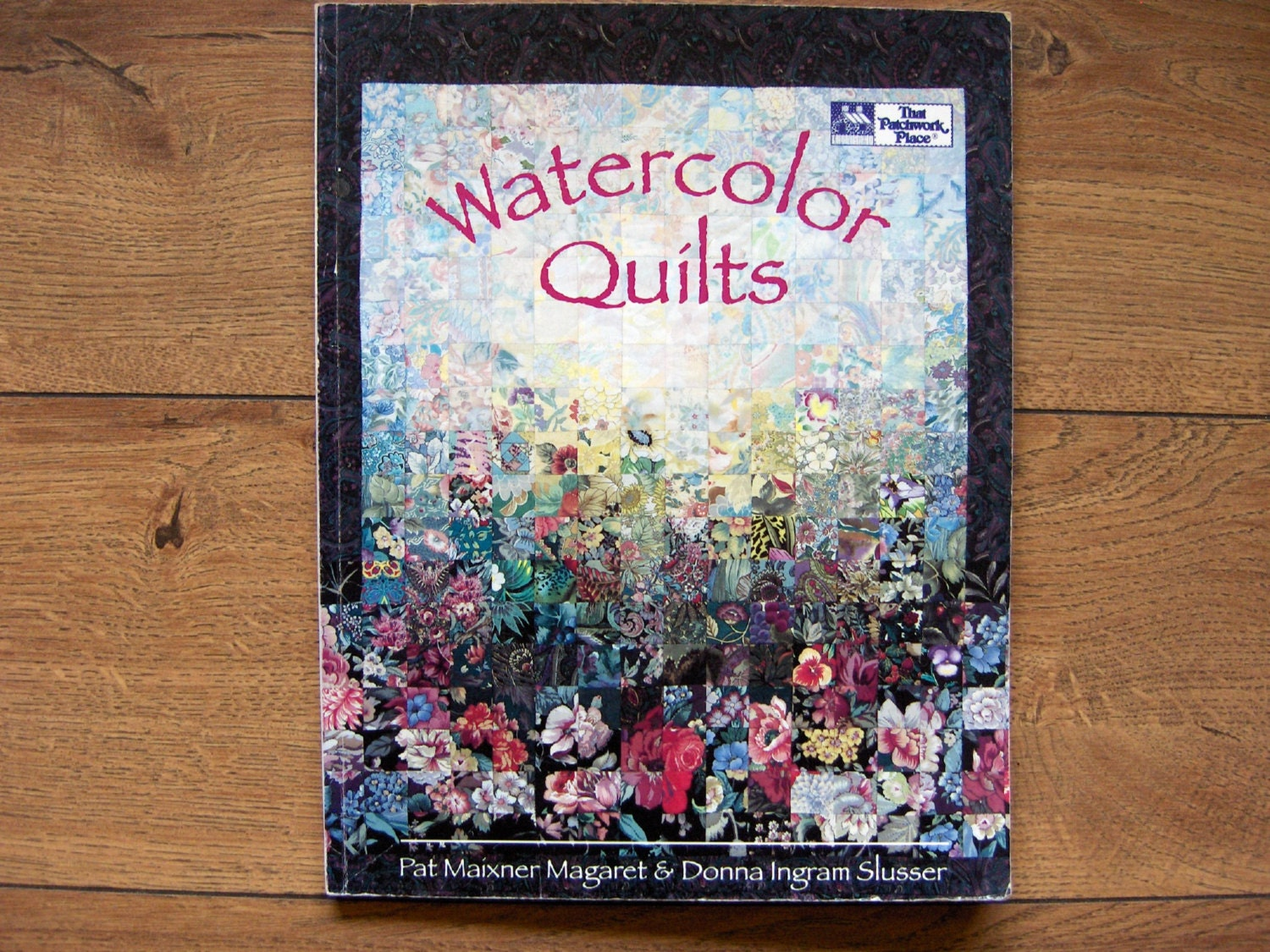 Book Cover Watercolor Quilt : Vintage watercolor quilts pattern book by granstreasures
