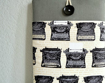 """Kindle Voyage Sleeve, Kindle Paperwhite Cover, Kindle 6"""" Touchscreen Case, eReader Case Padded Cover - Typewriters"""
