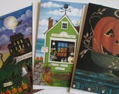 Set of 3 Notecards of Your Choice with Envelopes Artwork by Kim Leo
