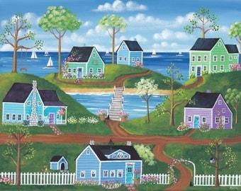 A Lovely Summer Folk Art Print
