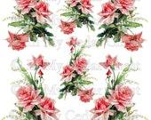 Instant Digital Download Cottage Pink Roses Lily of the Valley Vintage Catherine Klein Victorian Era Transparent PNG - U Print ECS