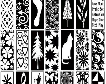 25 Sepia Decals for Image Transfer Onto Glass Ceramics Mostly Rectangles