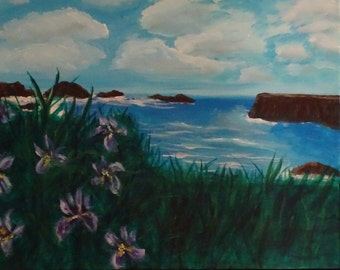 Original Painting Bandon Irises