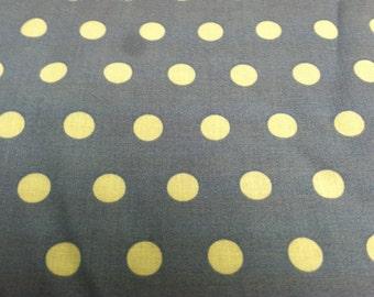Polka dot print fabric periwinkle blue