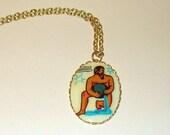 Vintage Aquarius Zodiac Necklace Pendant DEADSTOCK